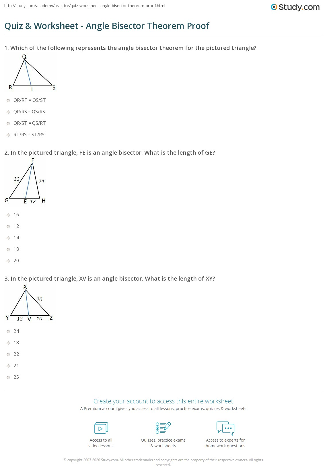 Pictures Perpendicular And Angle Bisectors Worksheet