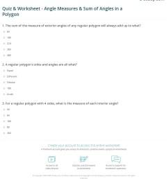 Quiz \u0026 Worksheet - Angle Measures \u0026 Sum of Angles in a Polygon   Study.com [ 1280 x 1140 Pixel ]