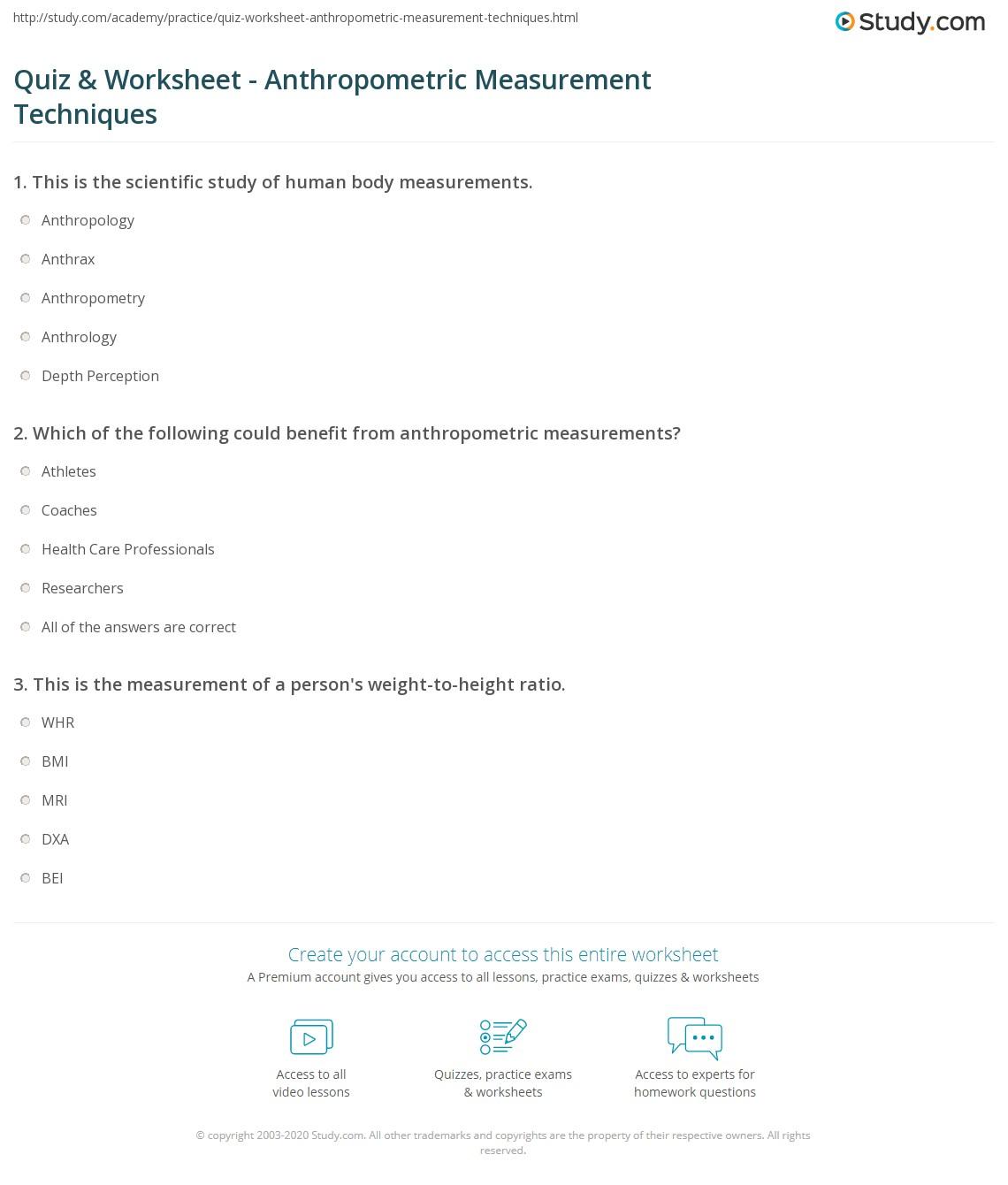 Worksheet On Measurement For Grade 1