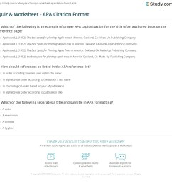 Quiz \u0026 Worksheet - APA Citation Format   Study.com [ 1149 x 1140 Pixel ]