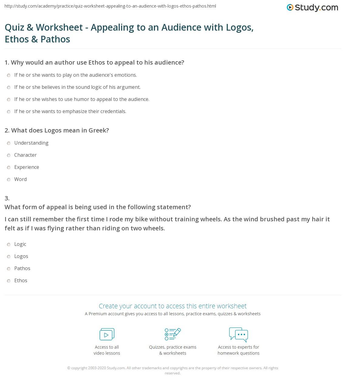 Persuasive Essay Examples Using Ethos Pathos And Logos
