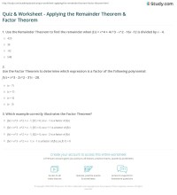 Synthetic Division Worksheet With Answer Key - color by ...