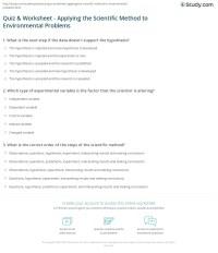 Quiz & Worksheet - Applying the Scientific Method to ...