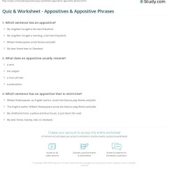 Diagram Appositive Phrases Msd 6a Wiring Chevy Appositives Worksheets Kidz Activities