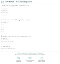 34 Arithmetic And Geometric Sequences Worksheet - Worksheet Resource Plans [ 1329 x 1140 Pixel ]