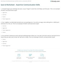 Printables. Assertiveness Training Worksheets. Mywcct ...