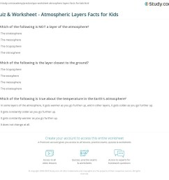 Quiz \u0026 Worksheet - Atmospheric Layers Facts for Kids   Study.com [ 1121 x 1140 Pixel ]
