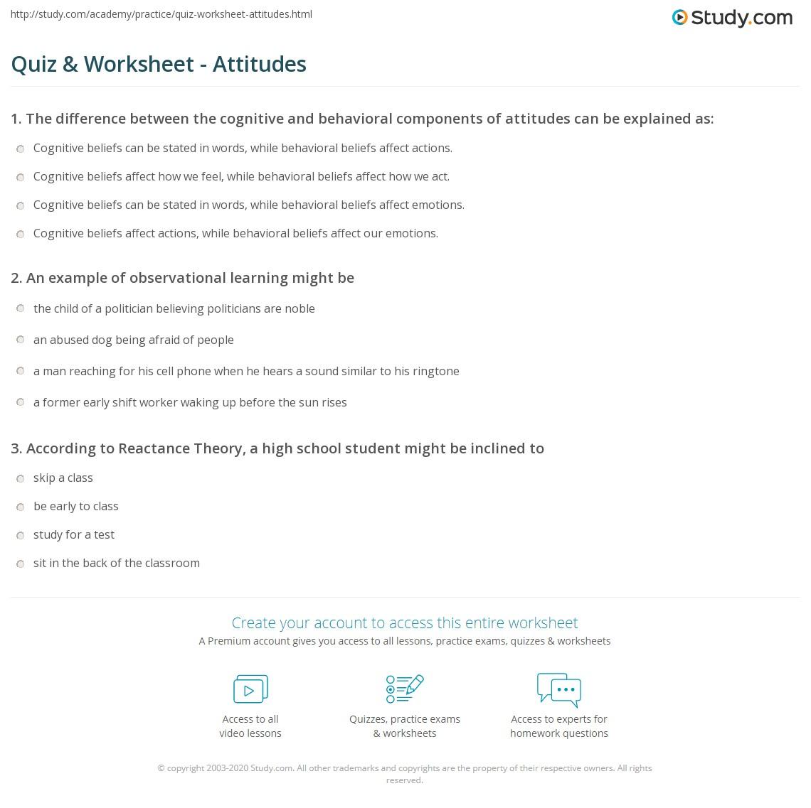 Behavior Worksheet For Adolescents