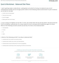 Quiz \u0026 Worksheet - Balanced Diet Plans   Study.com [ 1233 x 1140 Pixel ]