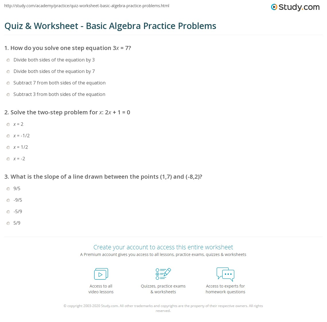 Practice 7 1 Solving Two Step Equations Answers
