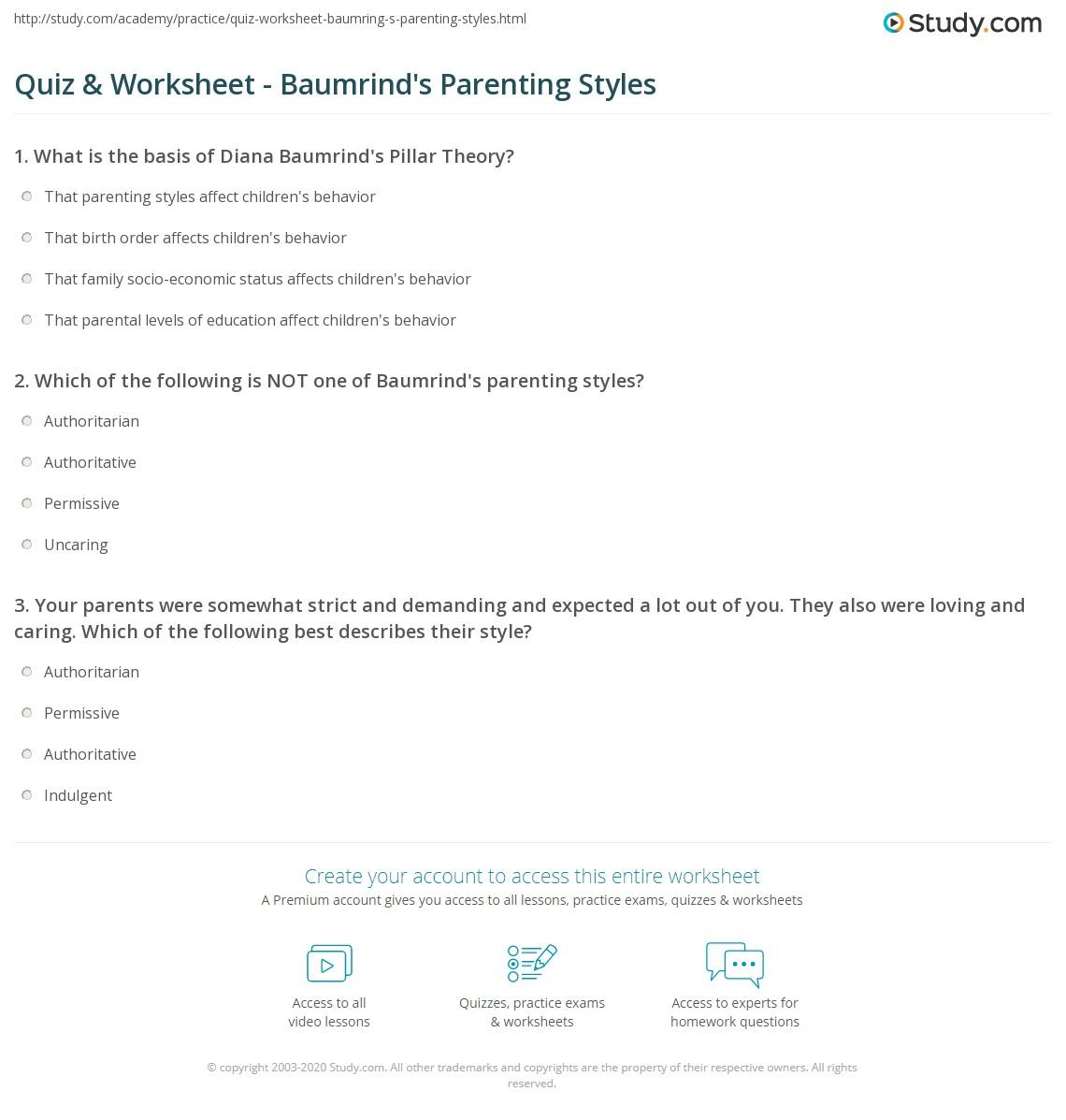 Baptism Worksheet Parents