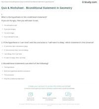 Quiz & Worksheet - Biconditional Statement in Geometry ...