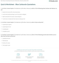 print the adventure of the blue carbuncle quotes worksheet [ 1140 x 1438 Pixel ]
