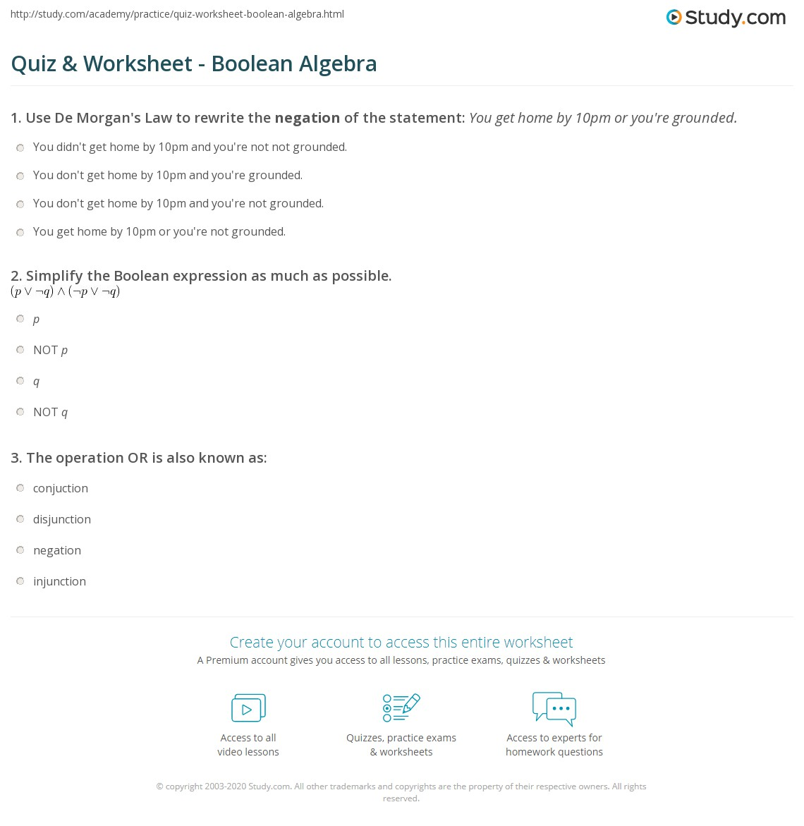 29 Trivia Test Math Worksheet Answers
