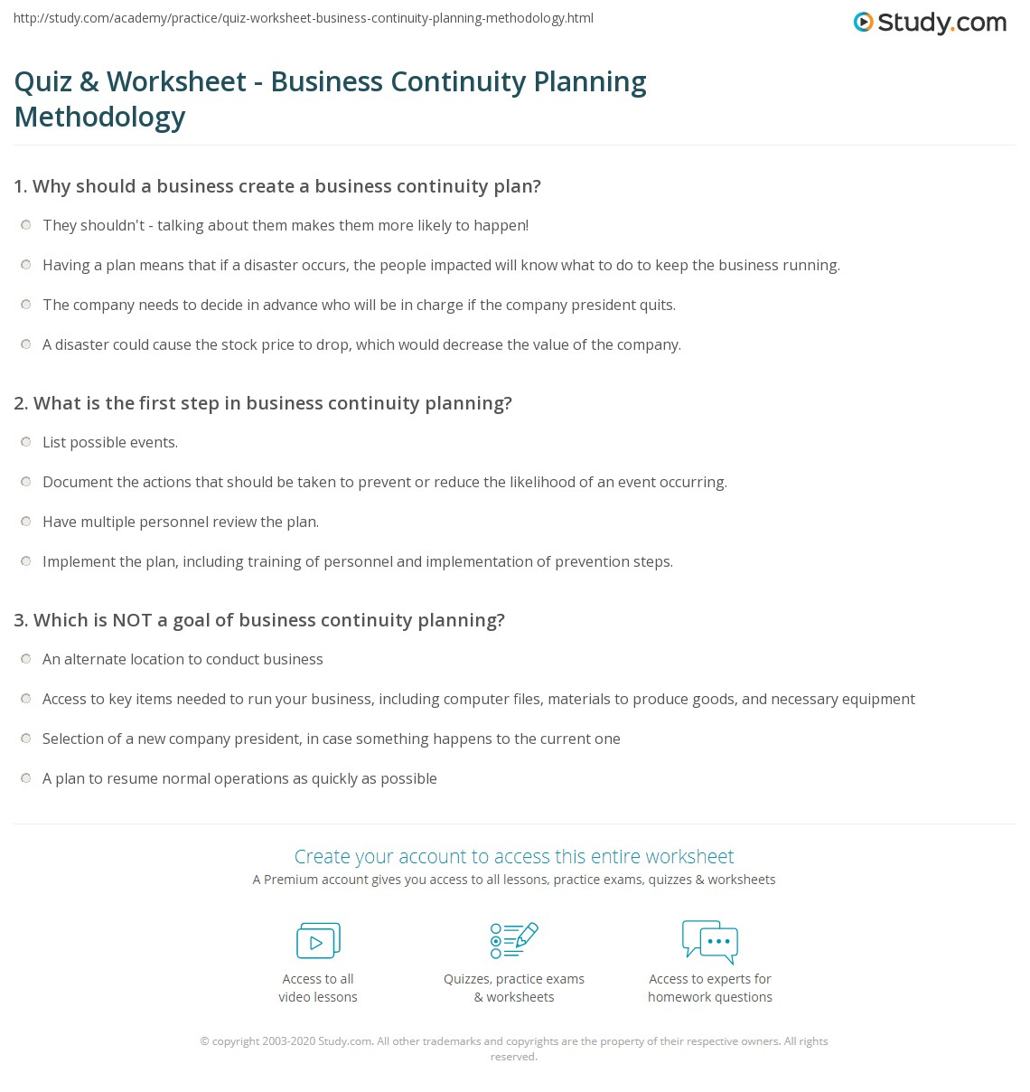 Business Continuity And Disaster Recovery Plan Template