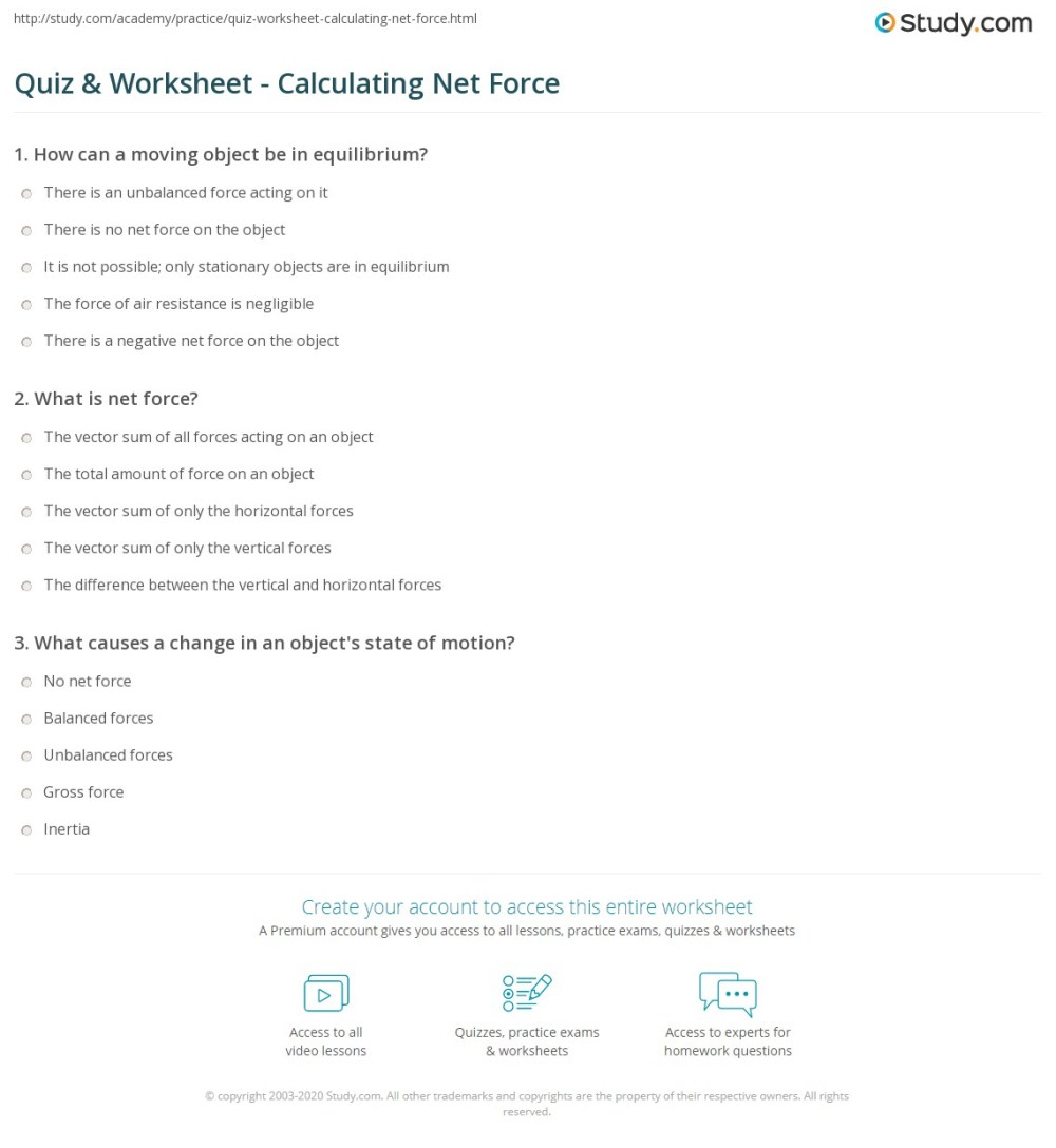 medium resolution of print net force definition and calculations worksheet