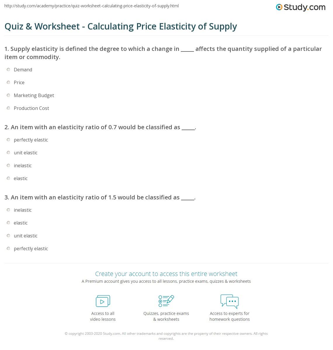 Demand Prctice Worksheet