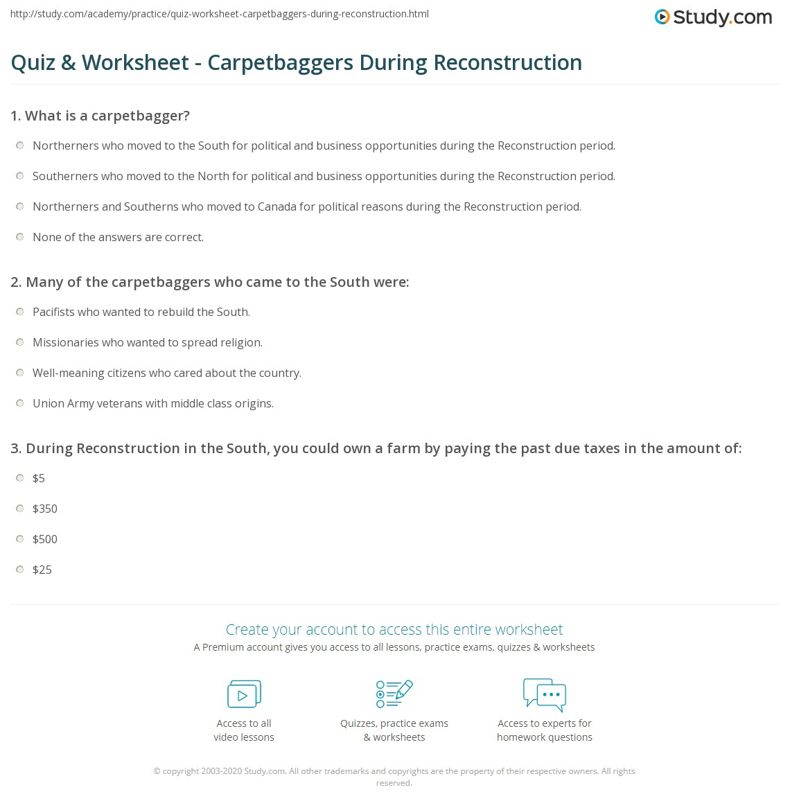 35 The Politics Of Reconstruction Worksheet Answers