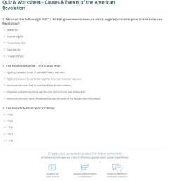 Quiz \u0026 Worksheet - Causes \u0026 Events of the American Revolution   Study.com [ 1368 x 1140 Pixel ]