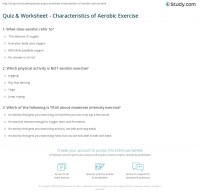 Quiz & Worksheet - Characteristics of Aerobic Exercise ...