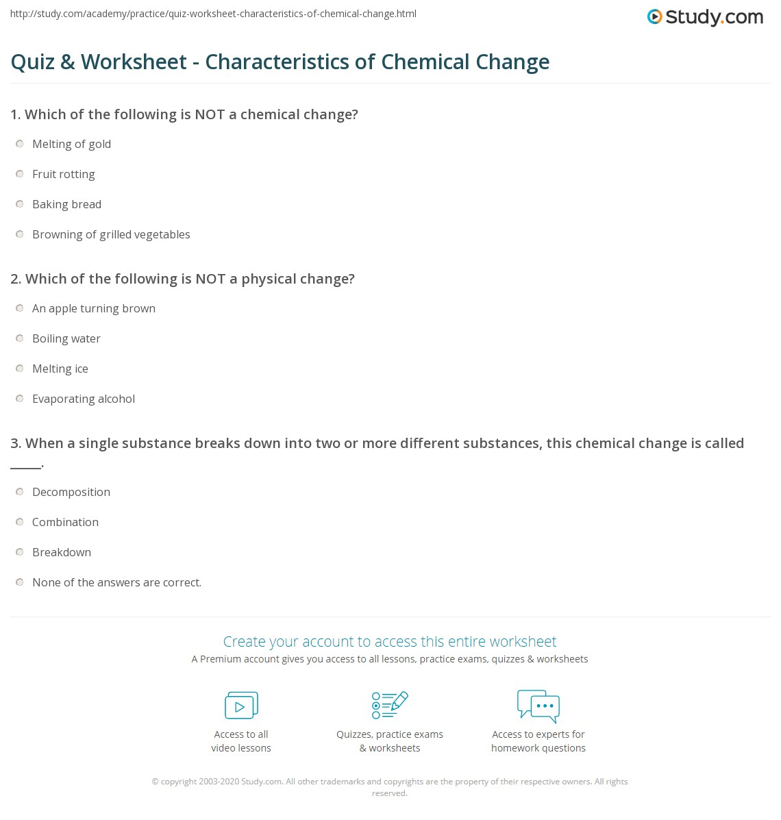 Worksheet Chemical And Physical Changes Worksheet Grass