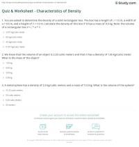 Middle School Density Problems Worksheets. Middle. Best ...