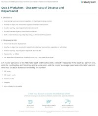 Quiz & Worksheet - Characteristics of Distance and ...