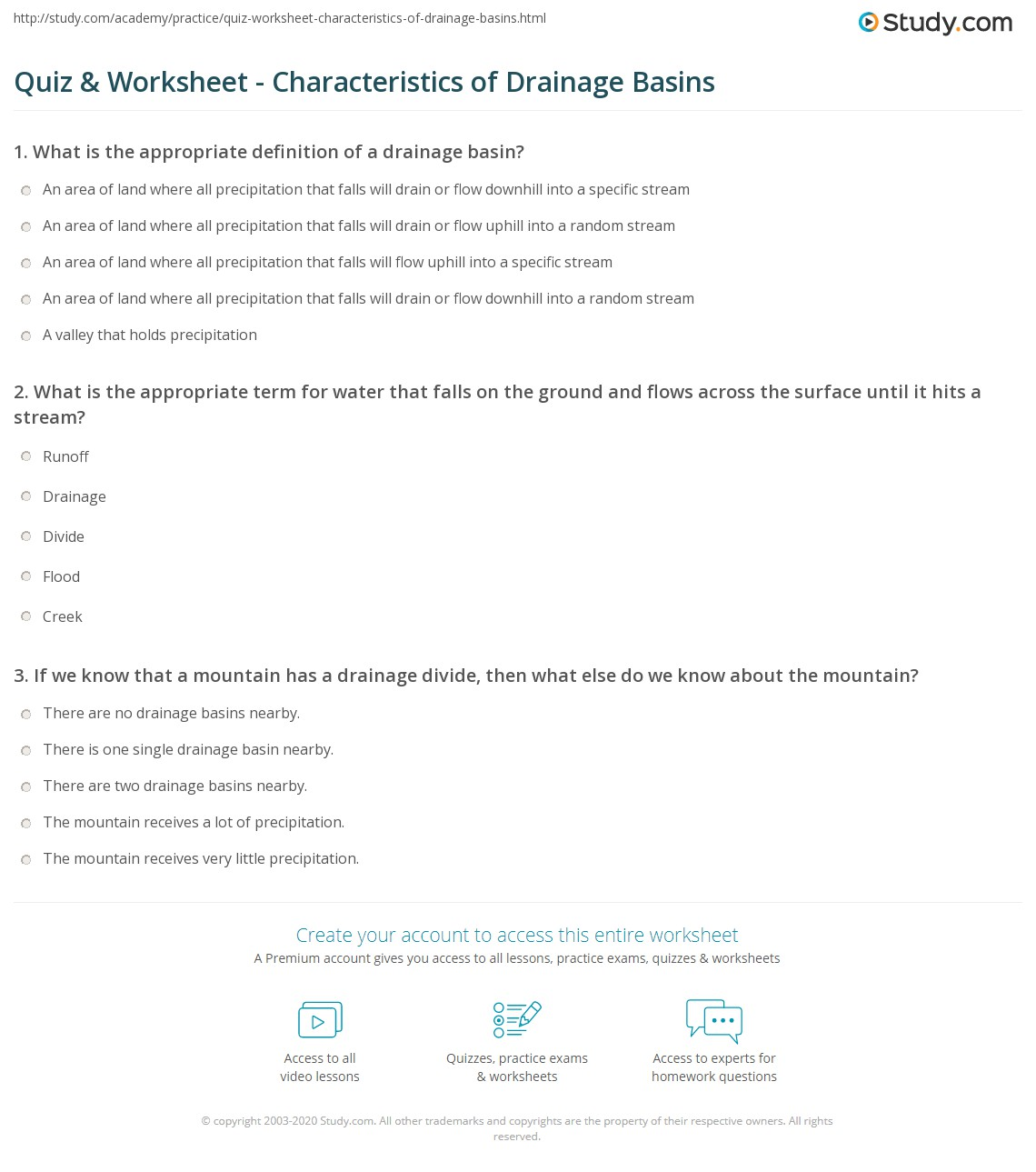 Drain The Ocean Video Guide Worksheet Answers