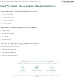 Quiz \u0026 Worksheet - Characteristics of Fundamental Rights   Study.com [ 1169 x 1140 Pixel ]
