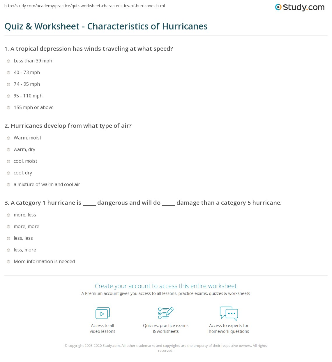 Hurricane Lab Worksheet