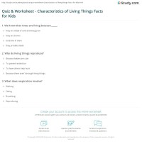 Quiz & Worksheet - Characteristics of Living Things Facts ...
