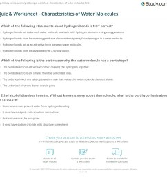 print facts about water molecules structure properties worksheet [ 1140 x 1228 Pixel ]