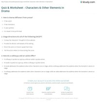 Quiz & Worksheet - Characters & Other Elements in Drama ...