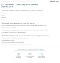 Writing Chemical Equations From Word Problems Worksheet ...