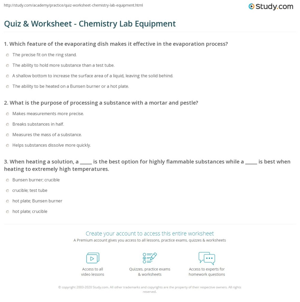 medium resolution of Biology Lab Equipment Worksheet - Worksheet List