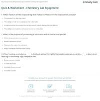 Quiz & Worksheet - Chemistry Lab Equipment | Study.com