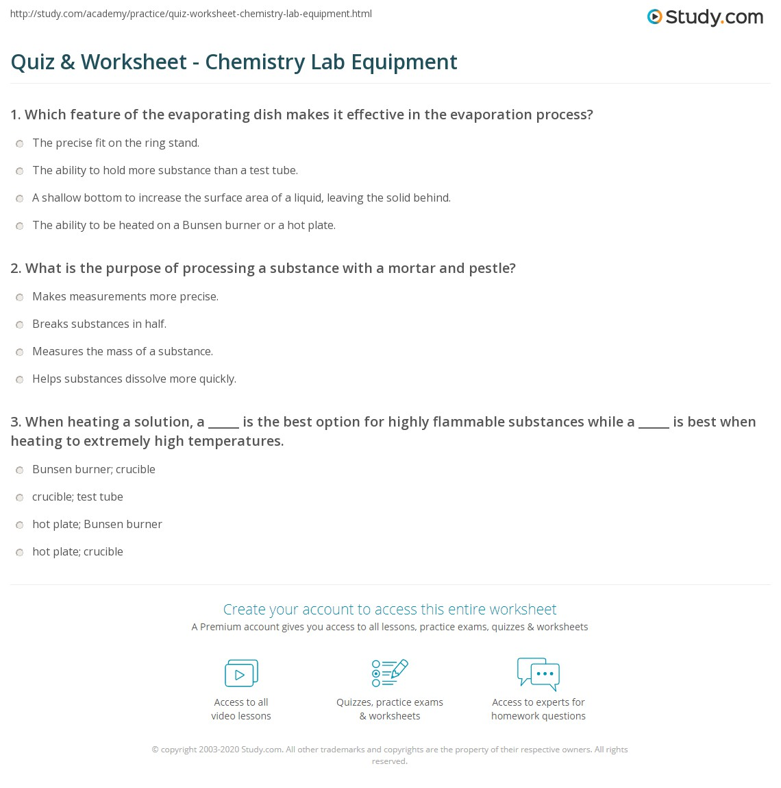 hight resolution of Biology Lab Equipment Worksheet - Worksheet List