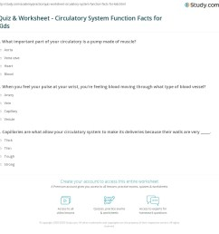 Quiz \u0026 Worksheet - Circulatory System Function Facts for Kids   Study.com [ 1160 x 1140 Pixel ]