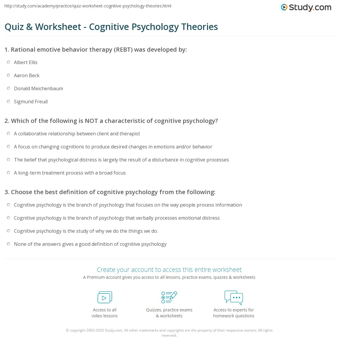Cognitive Psychology Definition Cognitive Approach