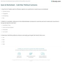 Quiz & Worksheet - Cold War Political Cartoons | Study.com