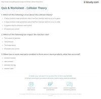 Quiz & Worksheet - Collision Theory   Study.com
