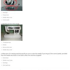Sewing Machine Parts Diagram Worksheet Av Receiver Wiring Quiz Online