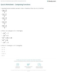 Free Worksheets  Domain And Range Of A Function Worksheet ...