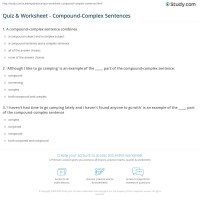 Compound Complex Sentences Worksheet Free Worksheets ...