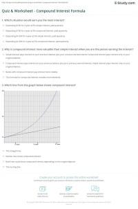 Quiz & Worksheet - Compound Interest Formula | Study.com