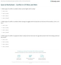 Quiz & Worksheet - Conflict in Of Mice and Men | Study.com