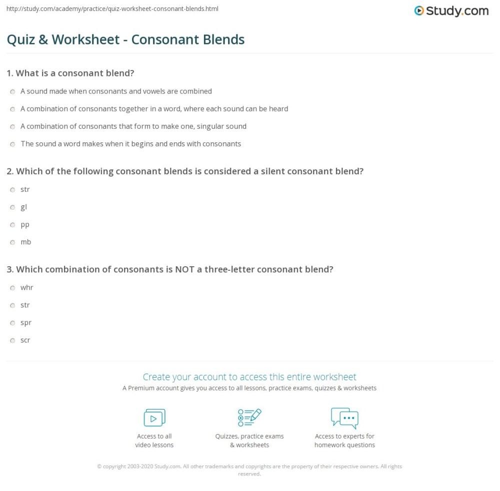 medium resolution of Grade 3 Consonant Blend Worksheets - Letter