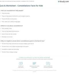 Quiz \u0026 Worksheet - Constellations Facts for Kids   Study.com [ 1169 x 1140 Pixel ]