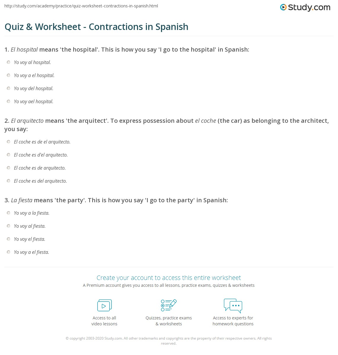 Contractions Worksheets Free Worksheets Library | Download and ...