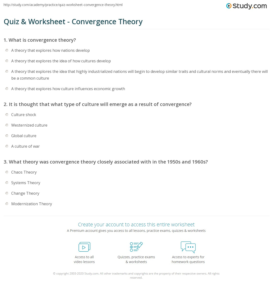Define Convergence Thesis